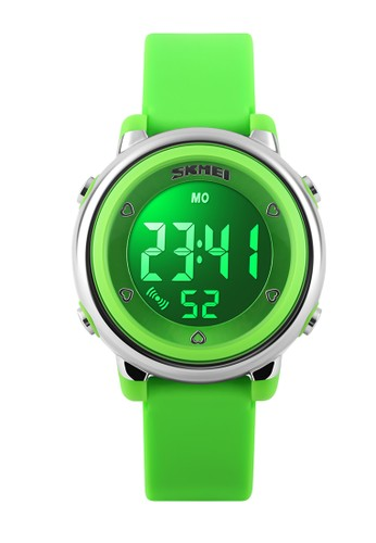 Digitec green Skmei - Jam Tangan Wanita - Green - Rubber Strap - 1100-A DI108AC44WJVID_1