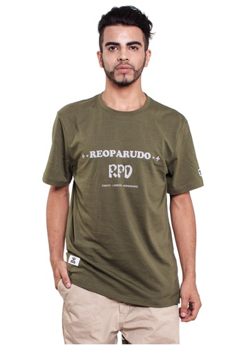 Reoparudo green RPD 331 Edition Reflective Print Tee (Army Green) RE413AA0FG27SG_1