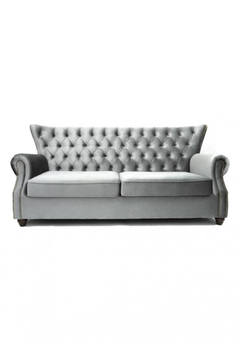 Choice Furniture grey Choice Furniture - Graham Chesterfield Sofa (3 Seater) AFE27HL4876333GS_1