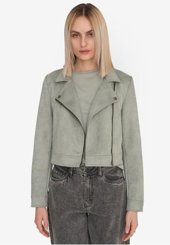 Noisy May grey Rubys Long Sleeve Jacket 40D0BAA5A3393EGS_1