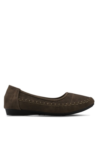 Louis Cuppers brown Perforated Flats BF07ESHE28202FGS_1