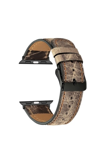 Kings Collection brown Brown Genuine Leather Apple Watch Band 38MM / 40MM (KCWATCH1041) 546A3ACAB2A958GS_1