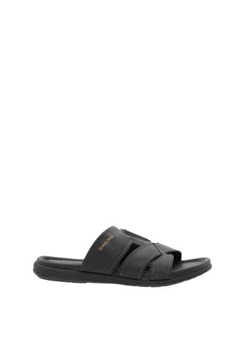 SEMBONIA black SEMBONIA Men Sandal (Black) F5100SHE68A2DBGS_1
