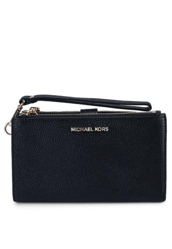 Michael Kors black Double Zip Wristlet (zt) 6F6CBACCB0722FGS_1