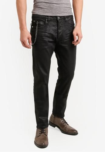 CR7 黑色 Type C窄管牛仔褲 CR532AA92EFBMY_1