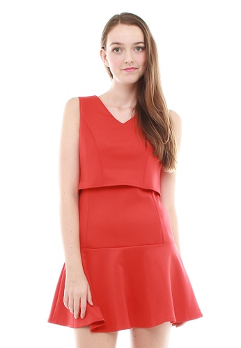 Leline Style red Abby Layered Chic Fun Dress LE802AA00FVJSG_1