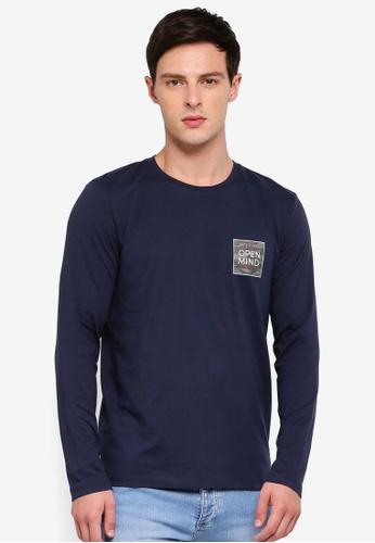 ESPRIT 海軍藍色 印花短袖T恤 EA0BAAA5131623GS_1