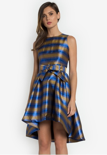 NOBASIC blue Stripe Printed Tent Dress FB1B4AABC7A15FGS_1