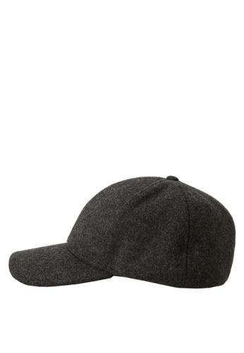 MANGO Man grey Wool-Blend Baseball Cap 82B0EACA4F6604GS_1