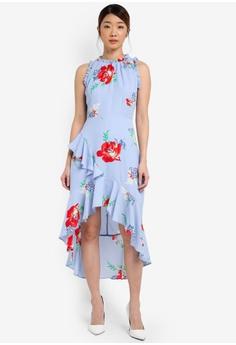 396c0dc6424 Miss Selfridge blue Cny  Floral Hi-Low Mini Dress MI665AA0T08TMY 1