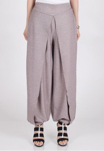 Meitavi's High Slit Jogger Pants - Pink