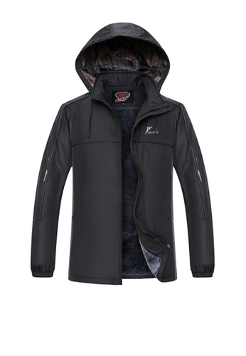 Twenty Eight Shoes black VANSA  Fashion Men's Plush Cotton Coat VCM-C1918 4A889AA29102ECGS_1