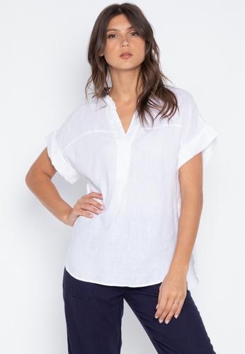 96cab9cb Shop MARKS & SPENCER Pure Linen Short Sleeve Shirt Online on ZALORA ...
