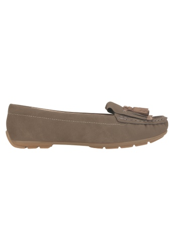 Beira Rio brown Solid Color Casual Tasseled Loafer MO998SH95EVSHK_1