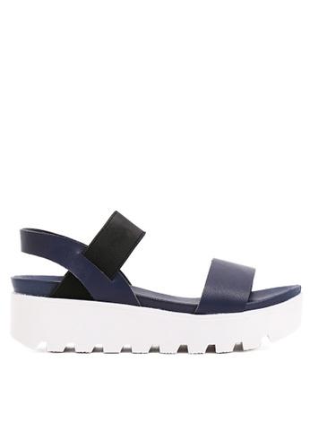Twenty Eight Shoes blue Pvc Sandals-elastic TW446SH86SOVHK_1