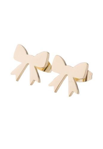 Kings Collection gold Bow Earrings (KJEA20077) 9B75BACE502CCEGS_1