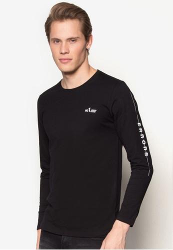 esprit品牌介绍文字長袖TEE, 服飾, T恤