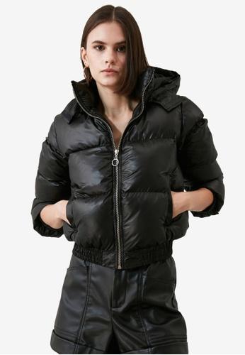 Trendyol black Hooded Puffer Jacket 1CB48AAE1551C7GS_1