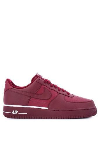 Nike red Men's Nike Air Force 1 '07 Shoes NI126SH0KPXLPH_1
