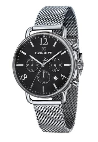 Thomas Earnshaw silver Thomas Earnshaw INVESTIGATOR ES-8001-11 Men's Stainless Steel Mesh Band Watch B6020ACF7D2D8BGS_1