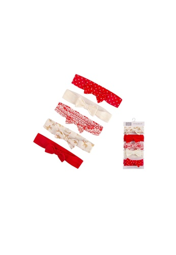 Little Kooma red Hudson Baby Christmas Headwraps 5 Piece Pack 56547 - 1215 68D71KC6A2644AGS_1
