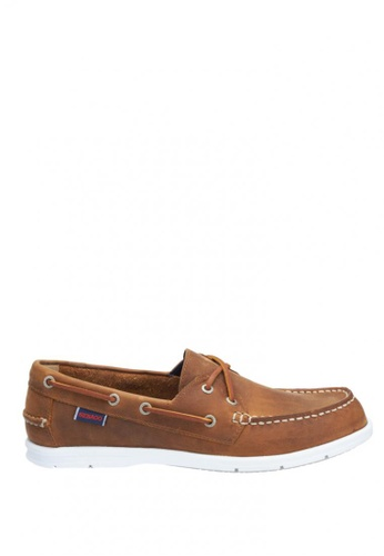 Sebago brown Litesides Two Eye Boat Shoe SE328SH34IANPH_1
