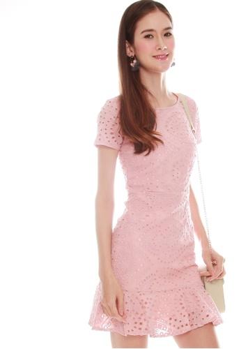 JOVET pink Eyelet Dress BDF0BAA6B0BD70GS_1