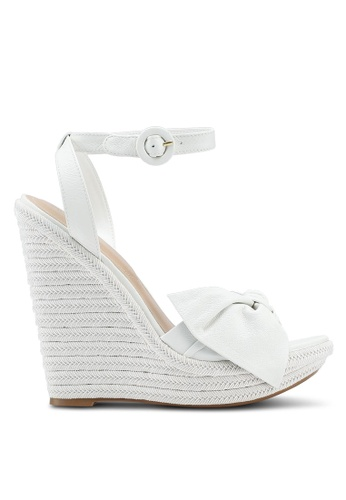 ALDO white Besch Wedge Sandals 252B9SH3471240GS_1