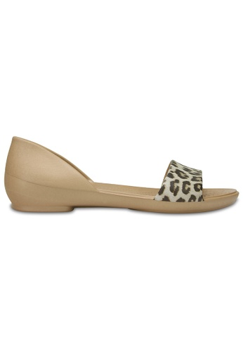 Crocs gold Women's Crocs Lina Graphic D'Orsay Flat Leopard CR883SH41MNMMY_1
