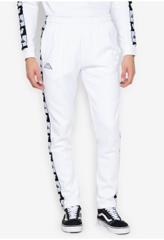 54a154846ba1 Kappa white Street Sport Pants Brushed Tricot Banda Tapes Disney  FE80DAACA17FD2GS 1