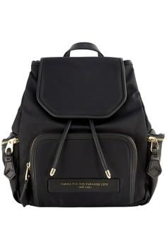 PRM Nylon Leather Backpack