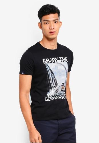 Volkswagen 黑色 短袖印花T恤 9EEF8AA4E2CD22GS_1