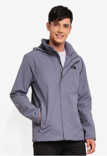 The North Face grey TNF M Sangro Plus Jacket - Ap Turbulence Grey 715C4AAF030008GS_1