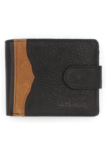 midzone black and brown Genuine Leather Bifold Wallet MI949AC00TLBMY_1