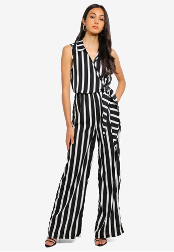 211aff4f1f9a Shop MISSGUIDED Stripe Sleeveless Wide Leg Jumpsuit Online on ZALORA  Philippines
