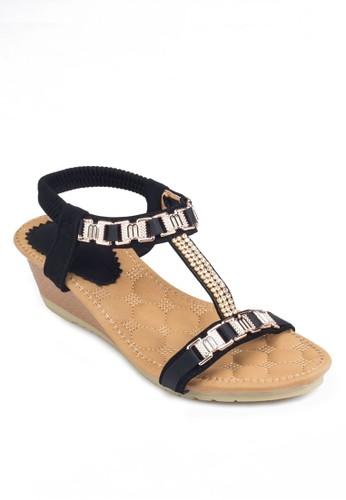 T 字踝帶船跟涼鞋, 女esprit outlet hk鞋, 鞋