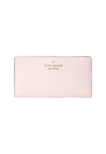 Kate Spade pink Kate Spade Staci Large Slim Bifold Wallet WLR00145 Light Crepe AC6FFACBD4C796GS_1