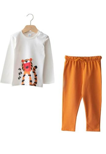 LC Waikiki white Printed Baby Boy T-Shirt and Trousers 2-pack 24E72KA18E7197GS_1