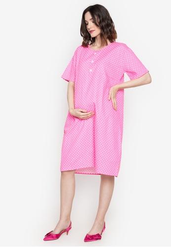 Amelia pink Maternity Rina Dress 50E59AA1FDA5CCGS_1