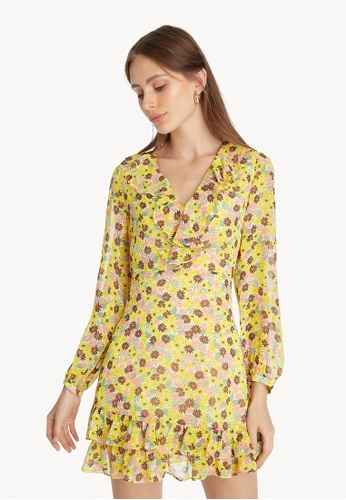 Pomelo yellow Mini Floral Ruffled Dress - Yellow 8CD52AAF744C88GS_1