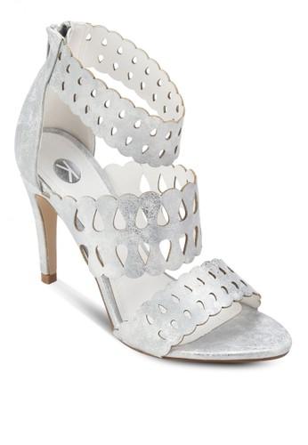 Hermes 鏤空繞踝高跟鞋esprit 台中, 女鞋, 鞋