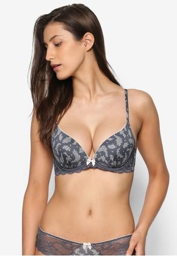 Paloma 低胸印花胸罩,esprit暢貨中心 服飾, 內衣&小可愛