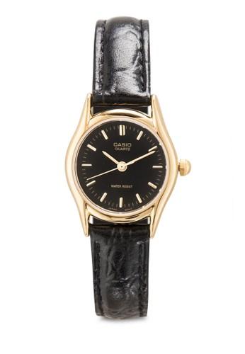 LTP-1094E-1AResprit台灣門市DF 皮革圓框手錶, 錶類, 飾品配件