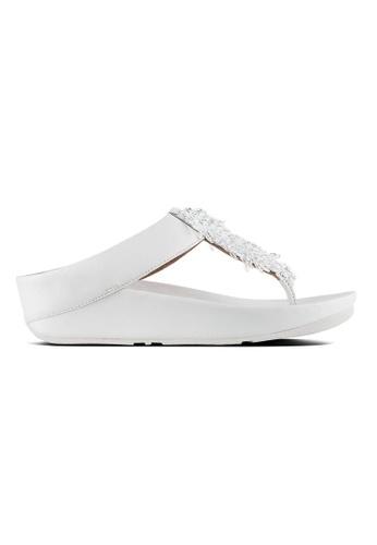 2992eb84e6e00 FitFlop white Fitflop Rumba Toe-Thong Sandals (Urban White)  15E85SH0DCD215GS 1