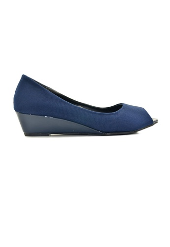 SHINE blue Peep Toe Wedges Pumps SH554SH61ULUSG_1