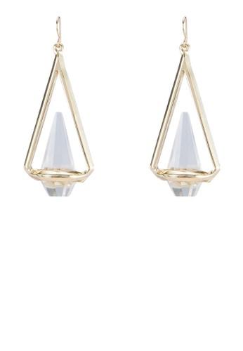 三角形寶石耳環,zalora 心得 ptt 飾品配件, 其他