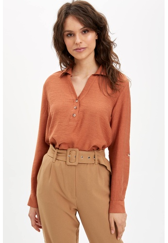 DeFacto orange Woman Long Sleeve Blouse A1A1DAA32370FCGS_1