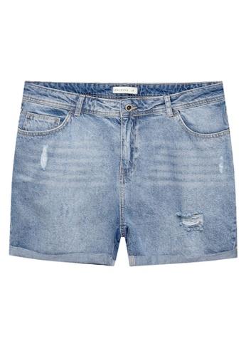 LC Waikiki 藍色 Ripped Denim Shorts 3AEC4AAE47ED21GS_1