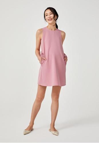 Love, Bonito pink Della Side Tie Shift Dress CDC3AAA77694D1GS_1