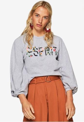 ESPRIT grey Long Sleeve Sweatshirt 0D8E7AA8AB90BEGS_1